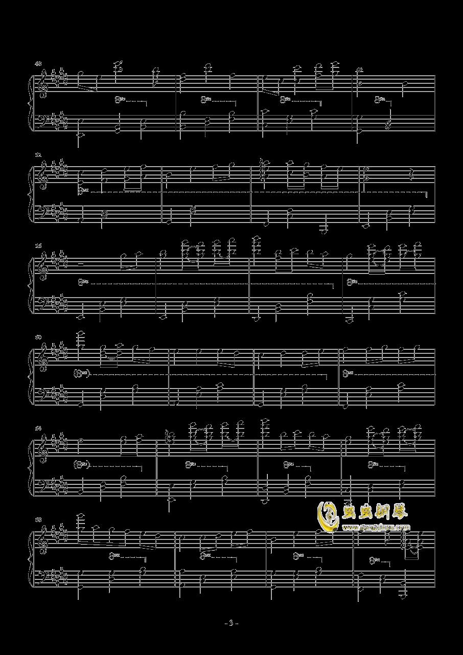 いつも何度でも钢琴谱 第3页