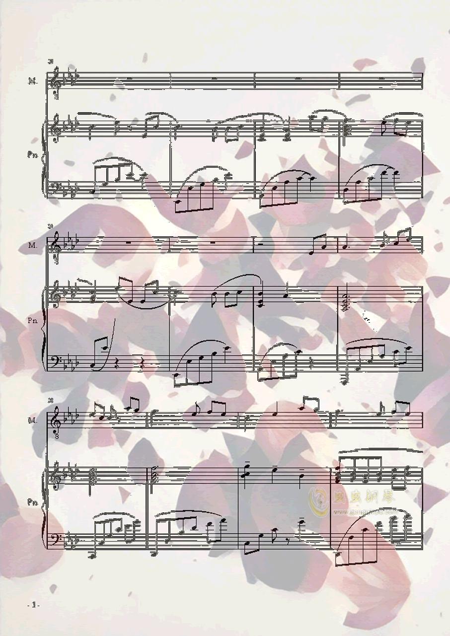 [初音English] STAR钢琴谱 第3页