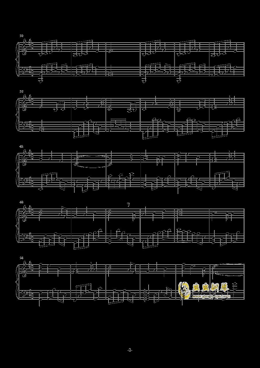 失恋蝴蝶钢琴谱 第2页