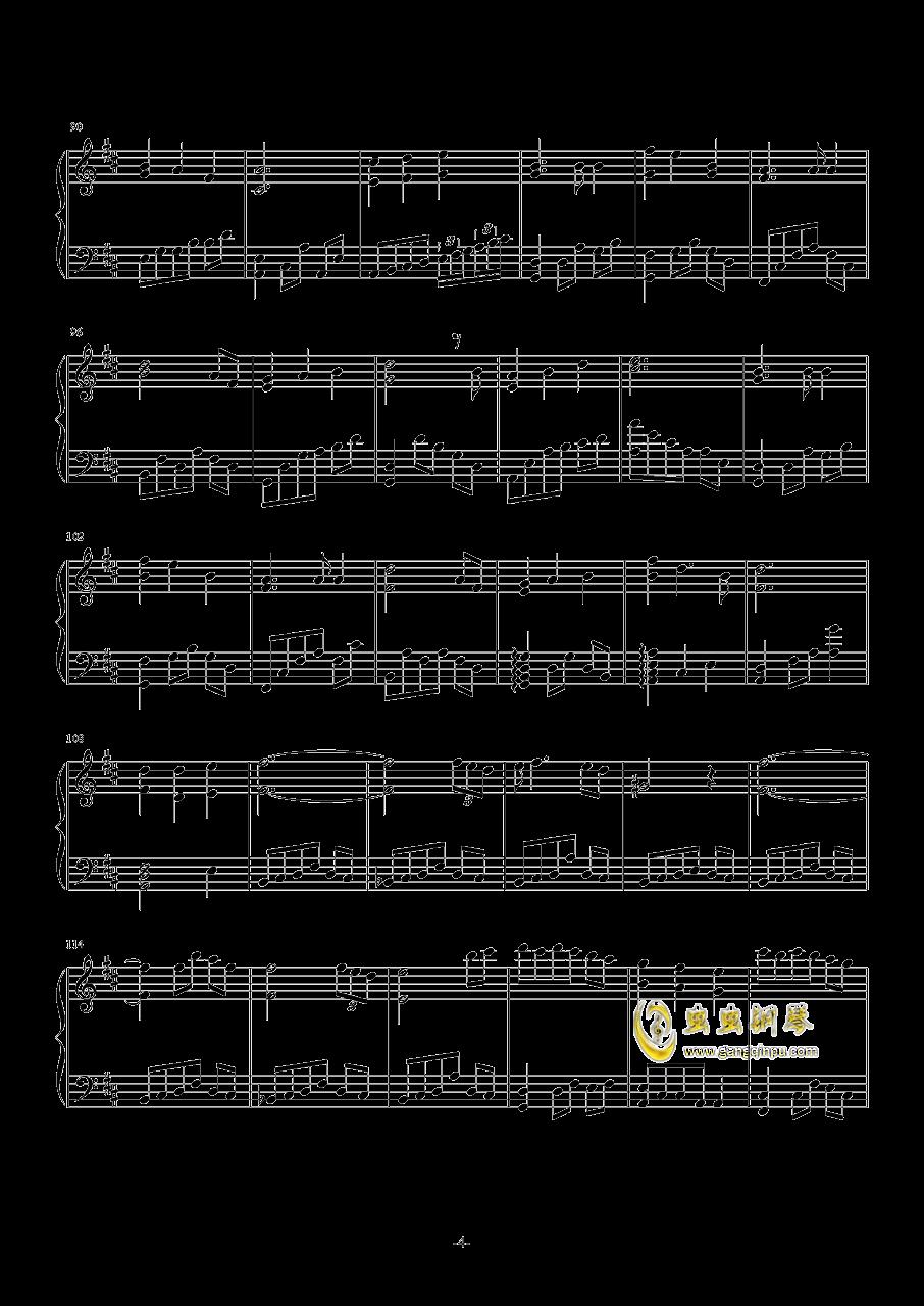 失恋蝴蝶钢琴谱 第4页