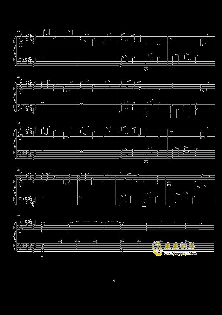 空に光る钢琴谱 第5页