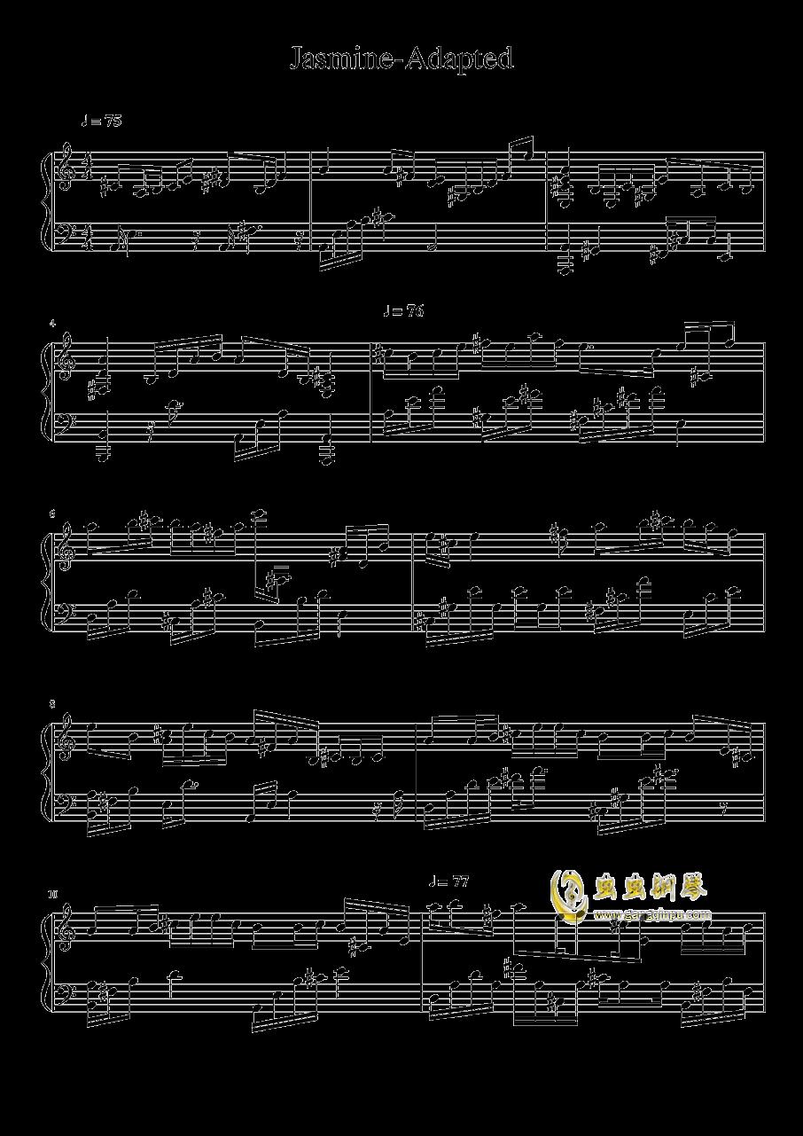 茉莉花钢琴谱 第1页