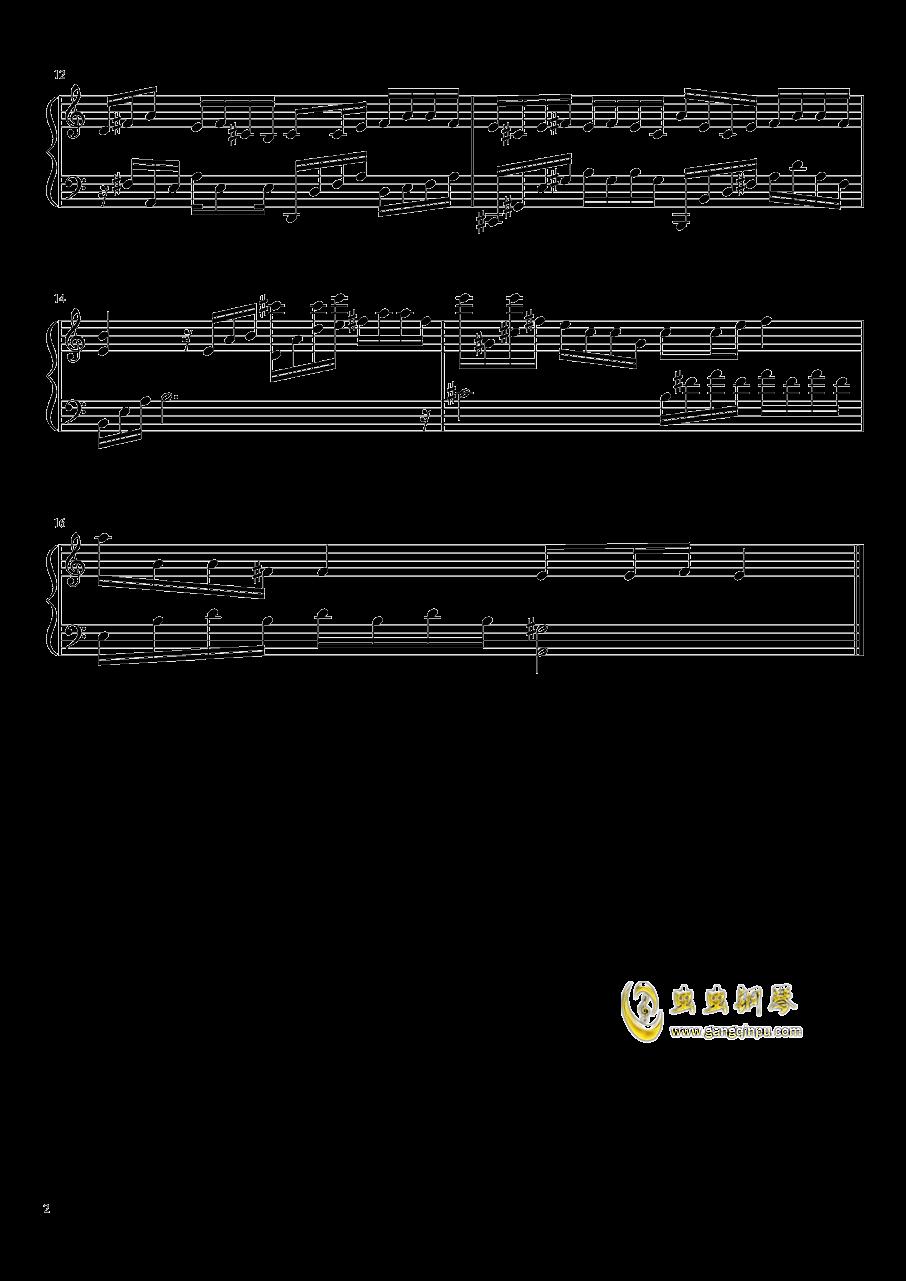 茉莉花钢琴谱 第2页