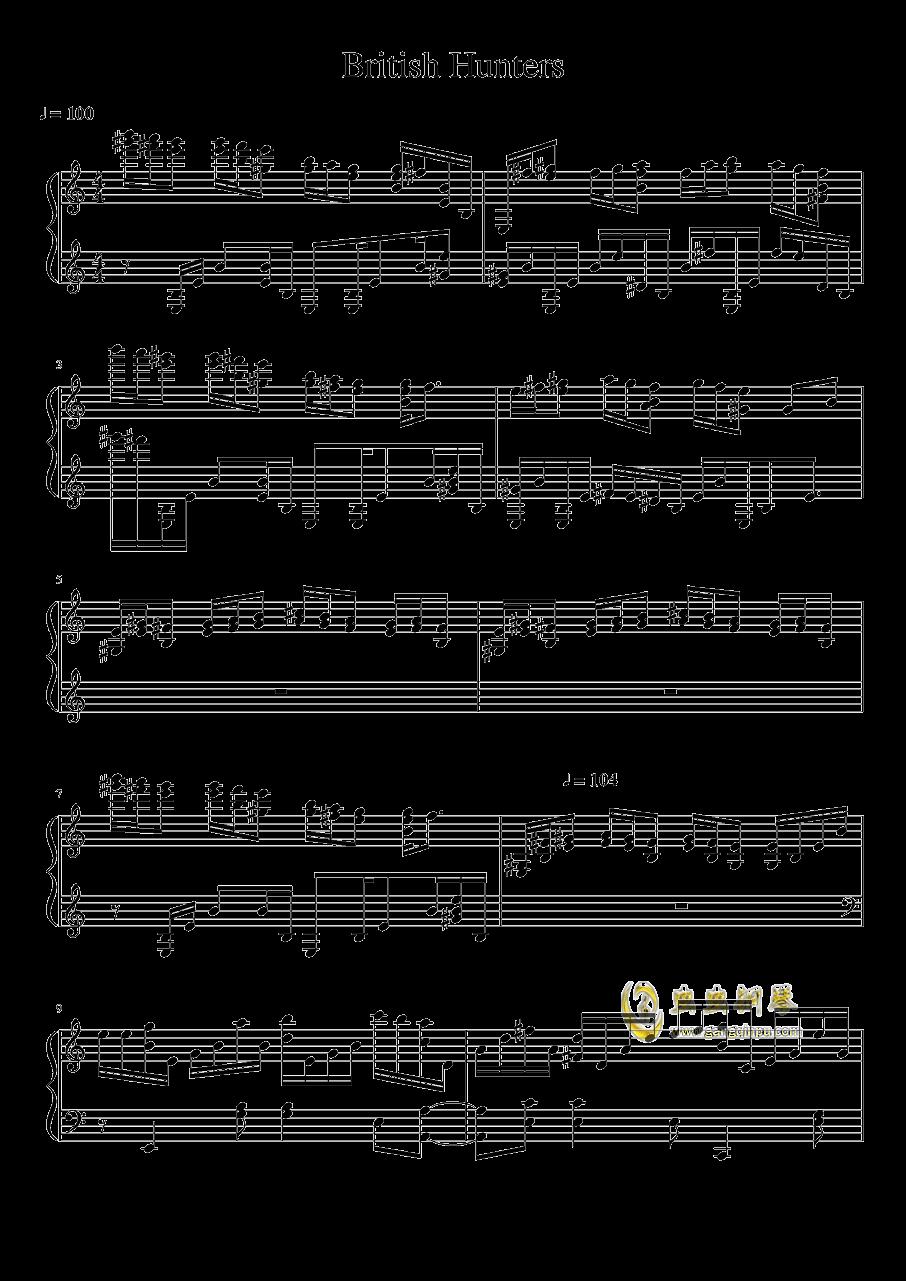 英国猎人钢琴谱 第1页