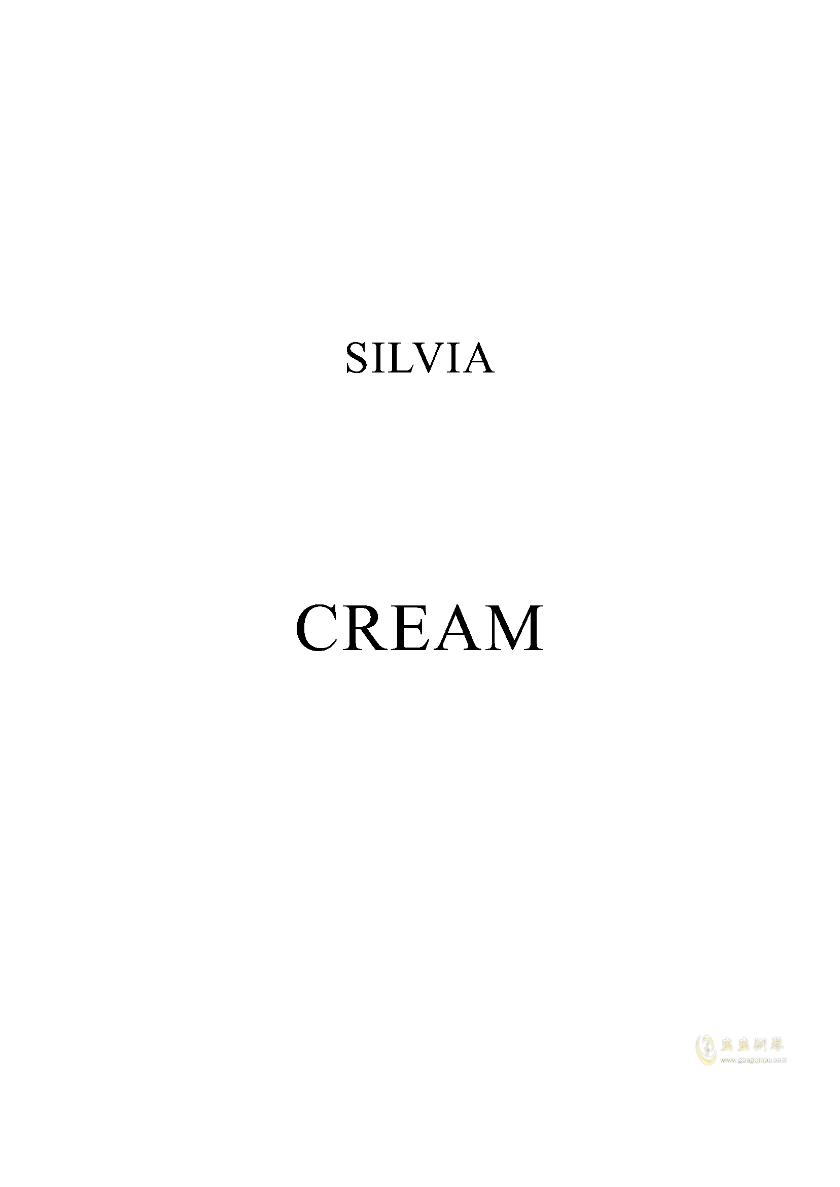 Cream钢琴谱 第1页