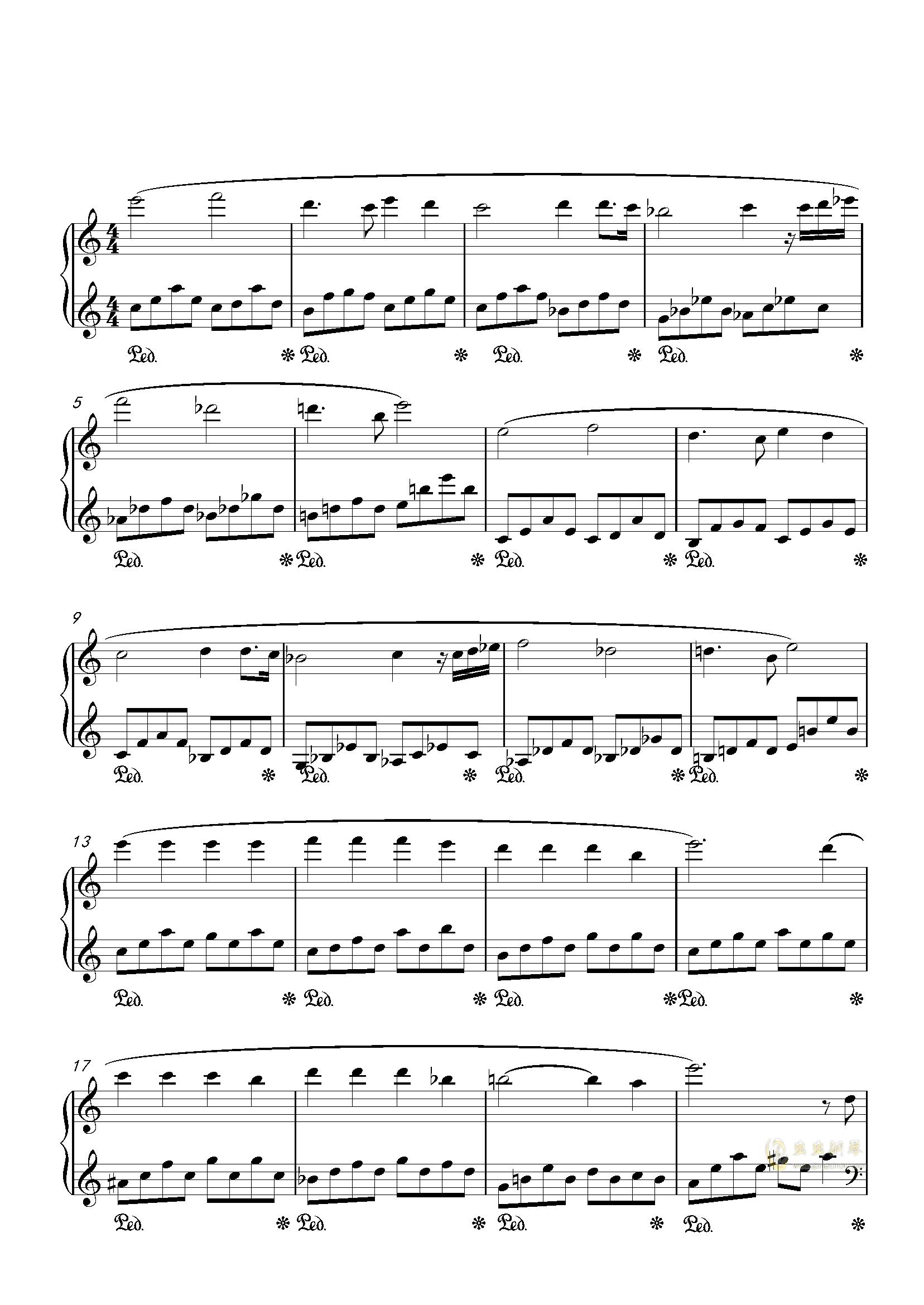 Cream钢琴谱 第2页
