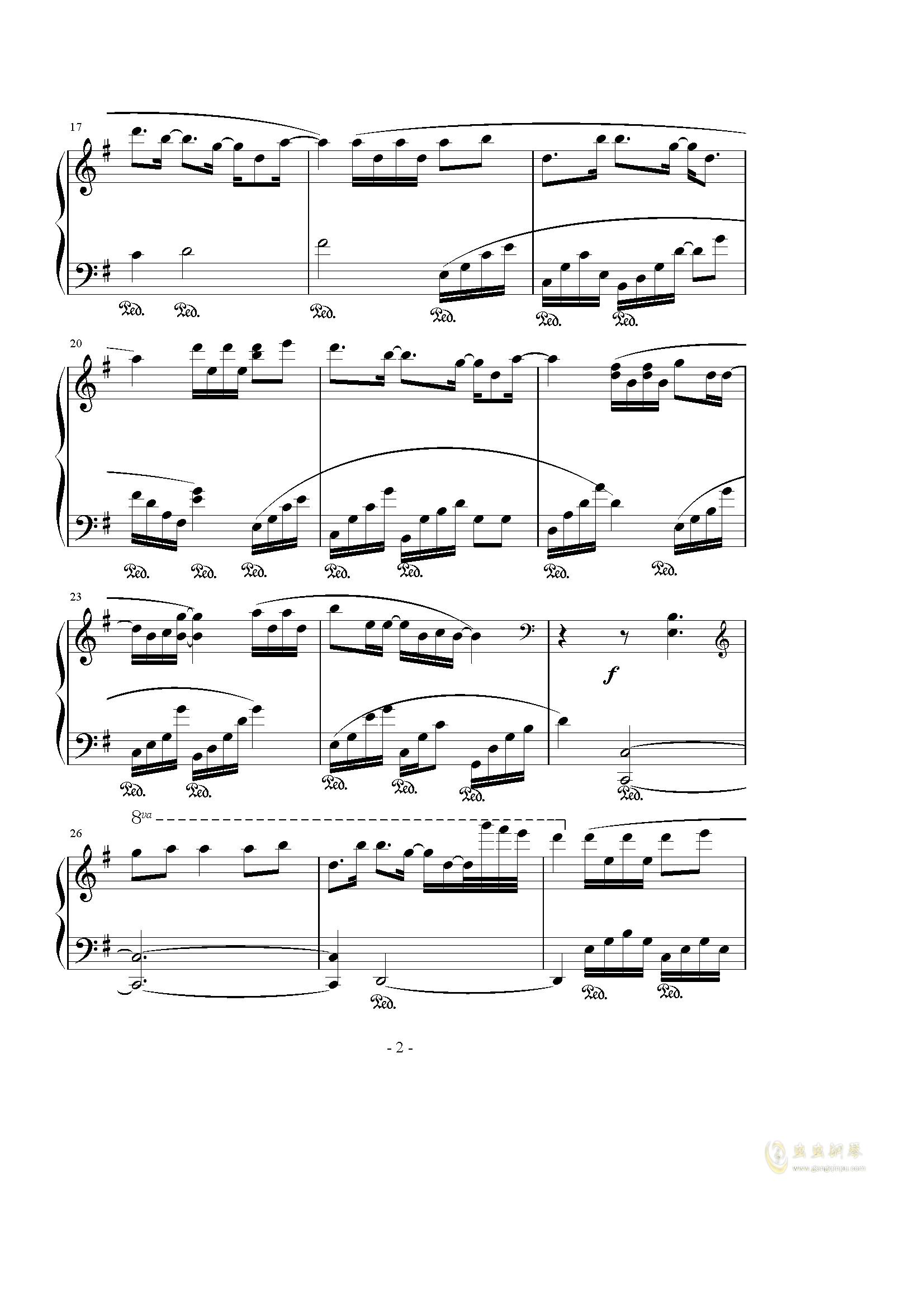 Hope钢琴谱 第2页