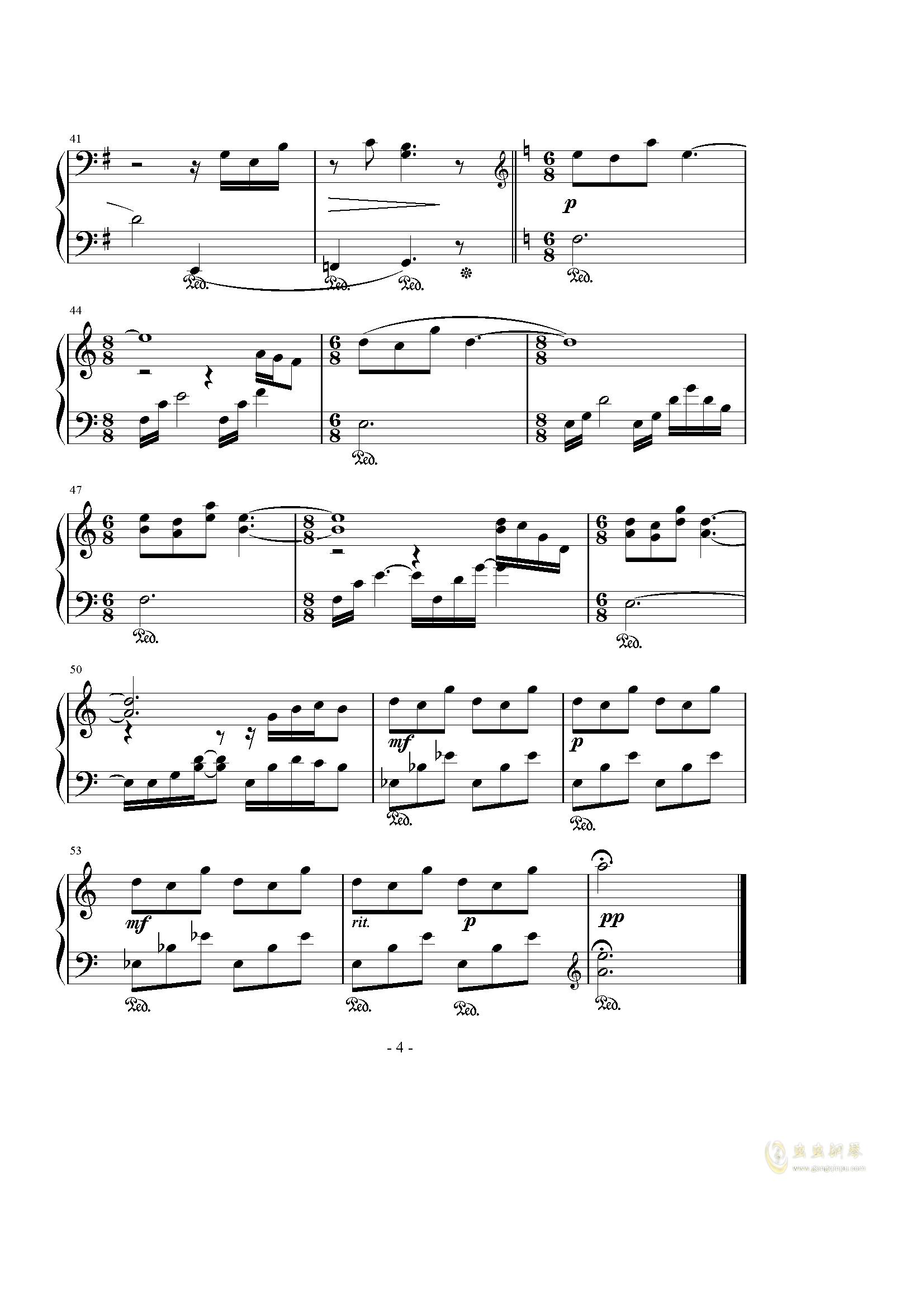 Hope钢琴谱 第4页