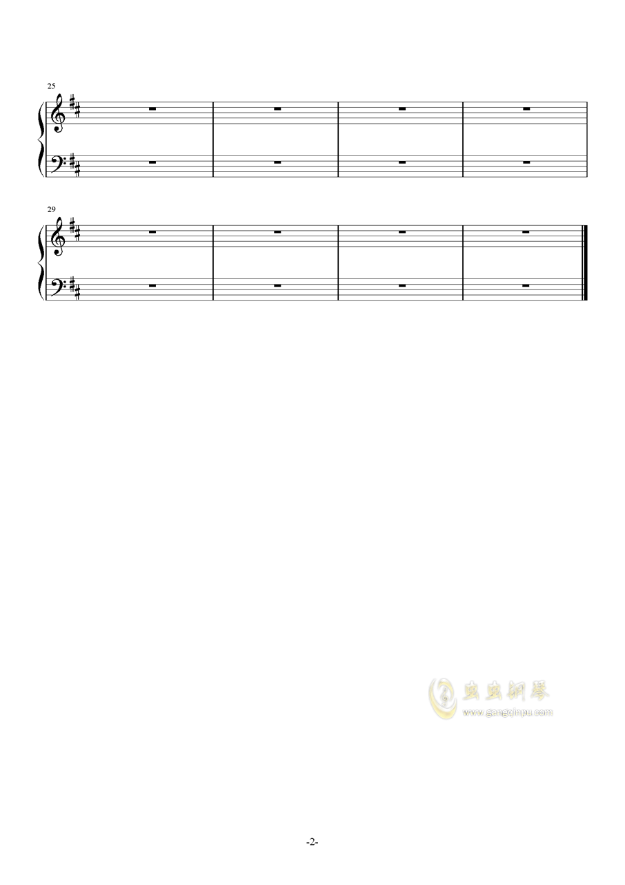 新闻联播 片尾曲钢琴谱 第2页