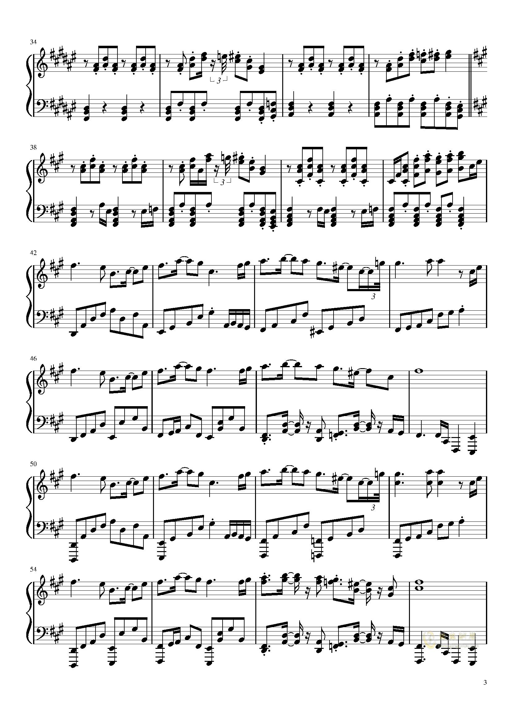 在春天的尽头钢琴谱 第3页