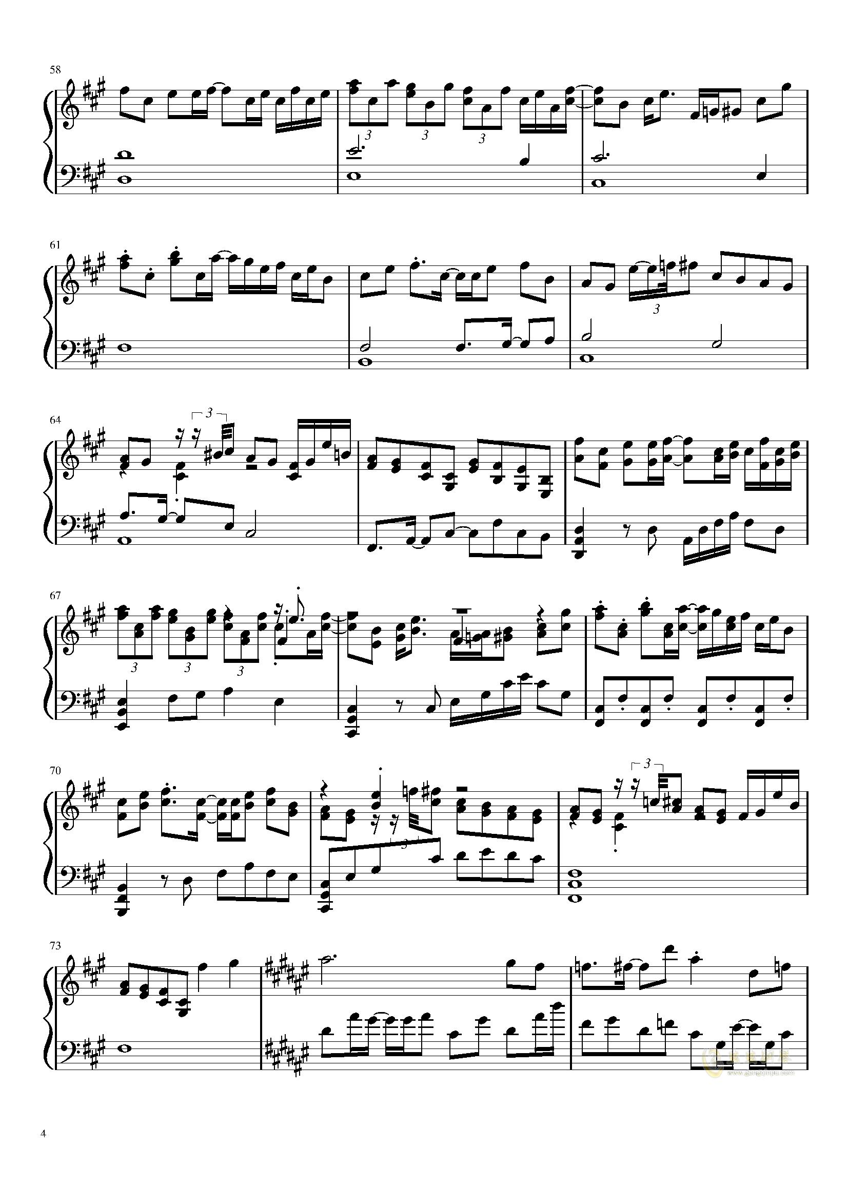 在春天的尽头钢琴谱 第4页