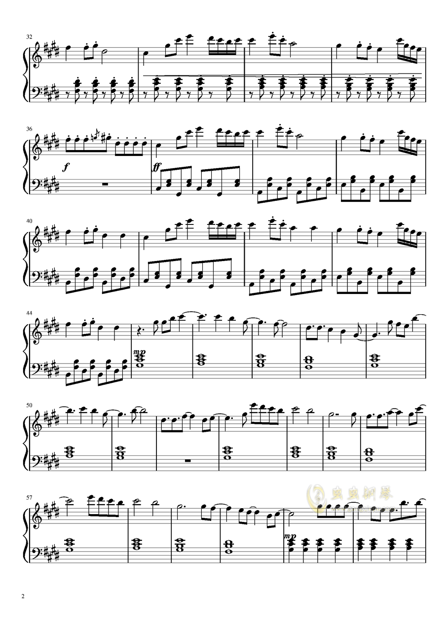 Alan Walker - 幽灵钢琴谱 第2页