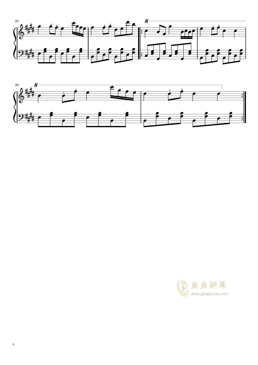 Alan Walker - 幽灵钢琴谱 第4页