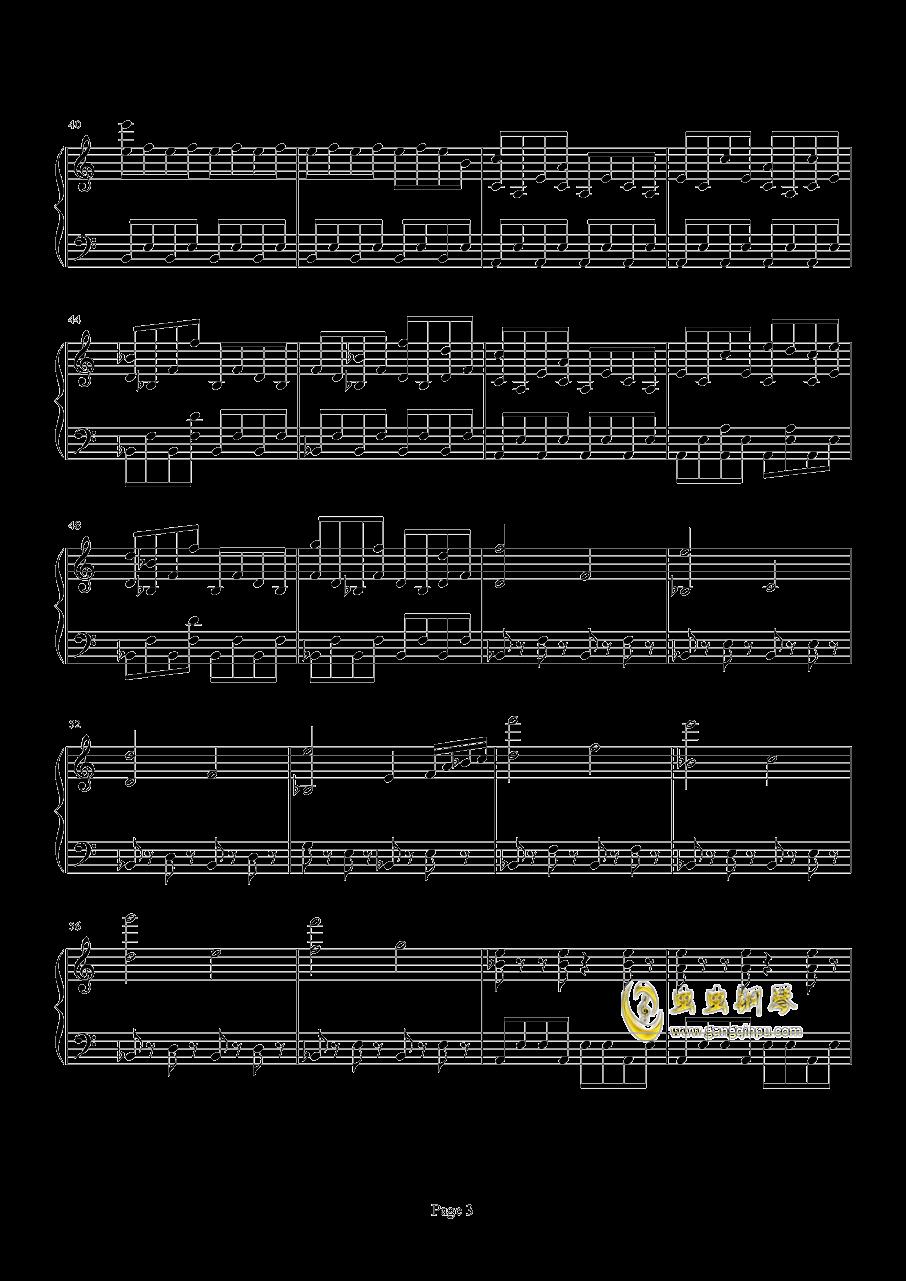 口袋妖怪初代遇怪音乐钢琴谱 第3页