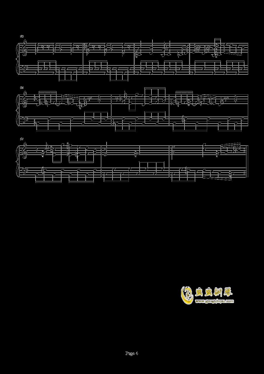 口袋妖怪初代遇怪音乐钢琴谱 第4页