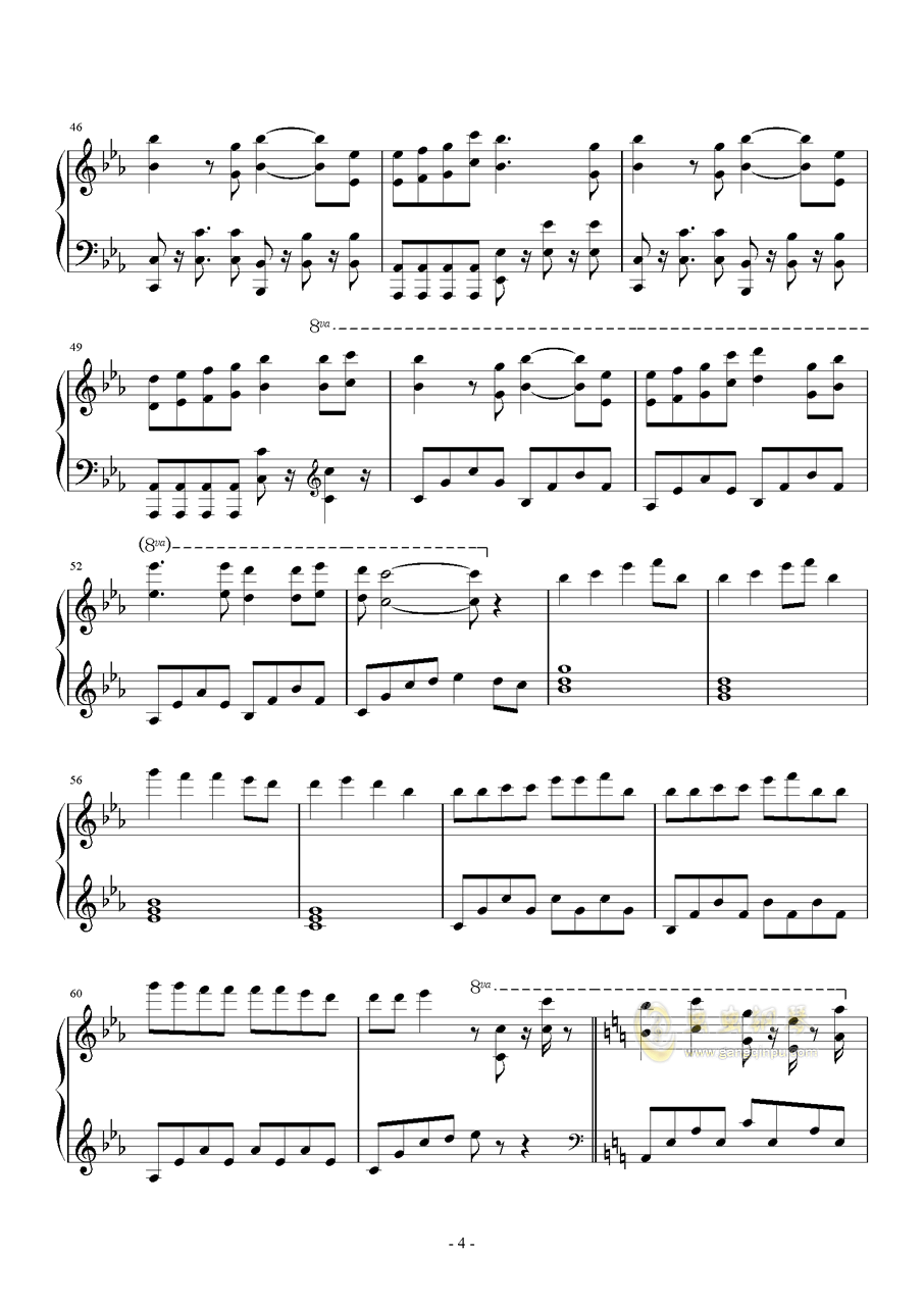Bios钢琴谱 第4页