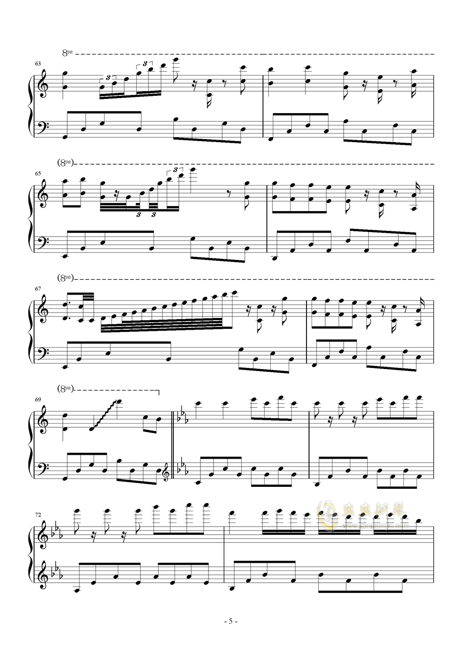 Bios钢琴谱 第5页
