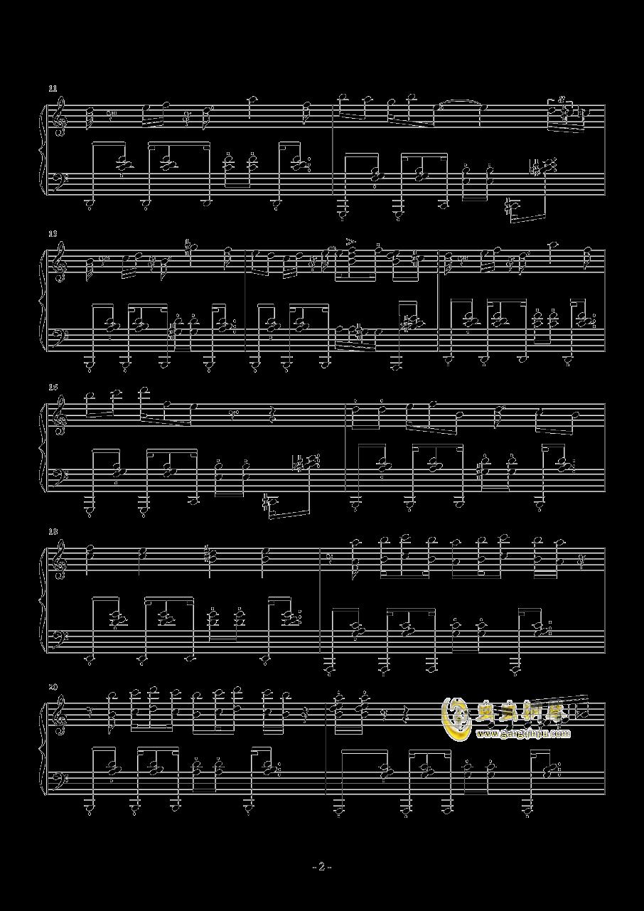 RED ALE钢琴谱 第2页