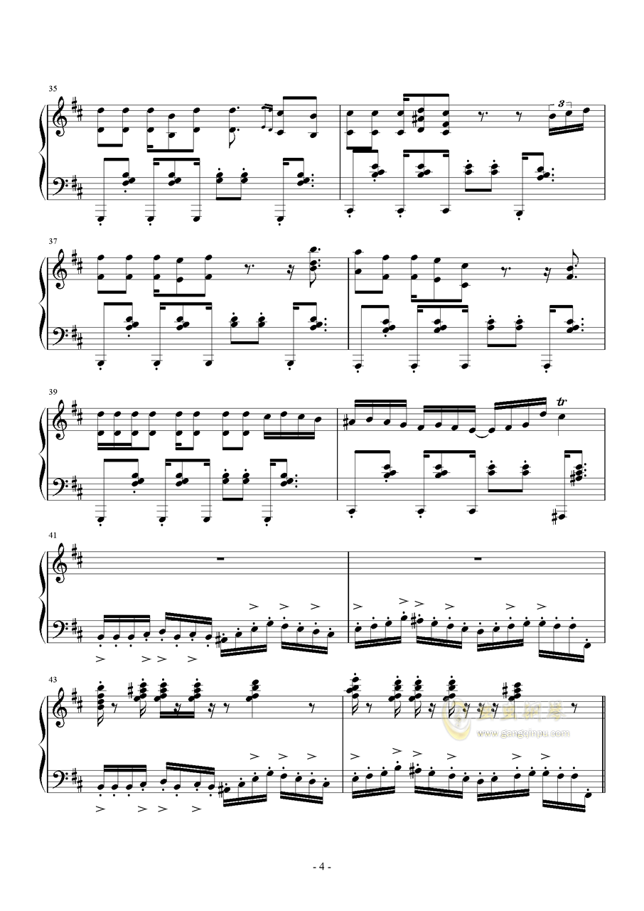 RED ALE钢琴谱 第4页