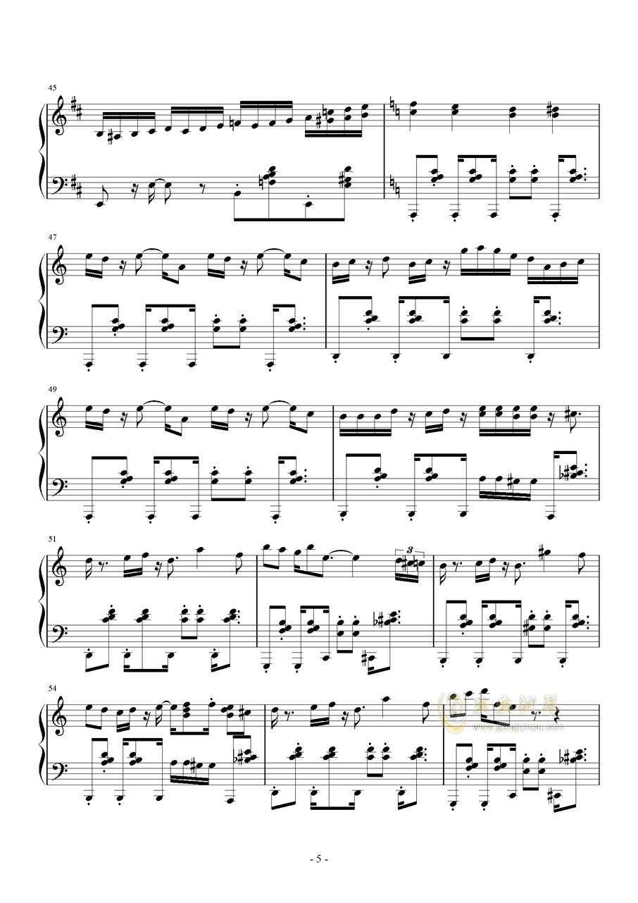 RED ALE钢琴谱 第5页