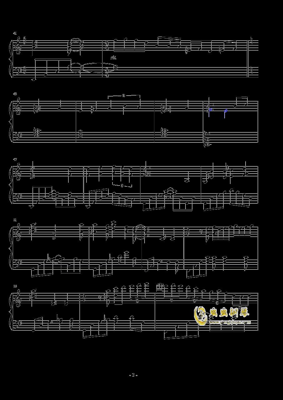 日落�r分钢琴谱 第3页
