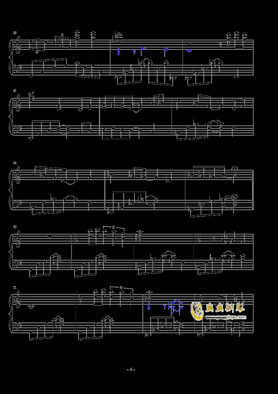 日落�r分钢琴谱 第4页