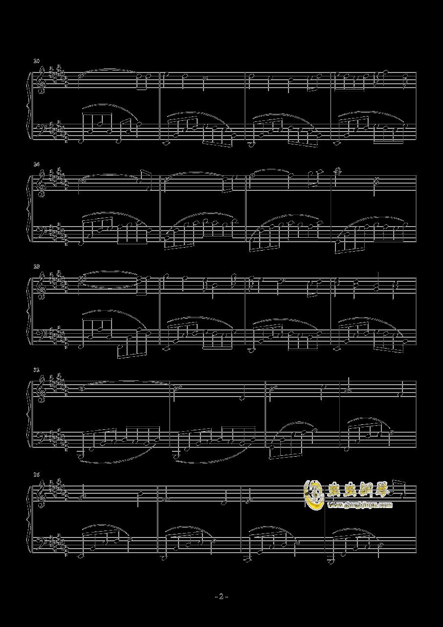 我可以想你吗钢琴谱 第2页