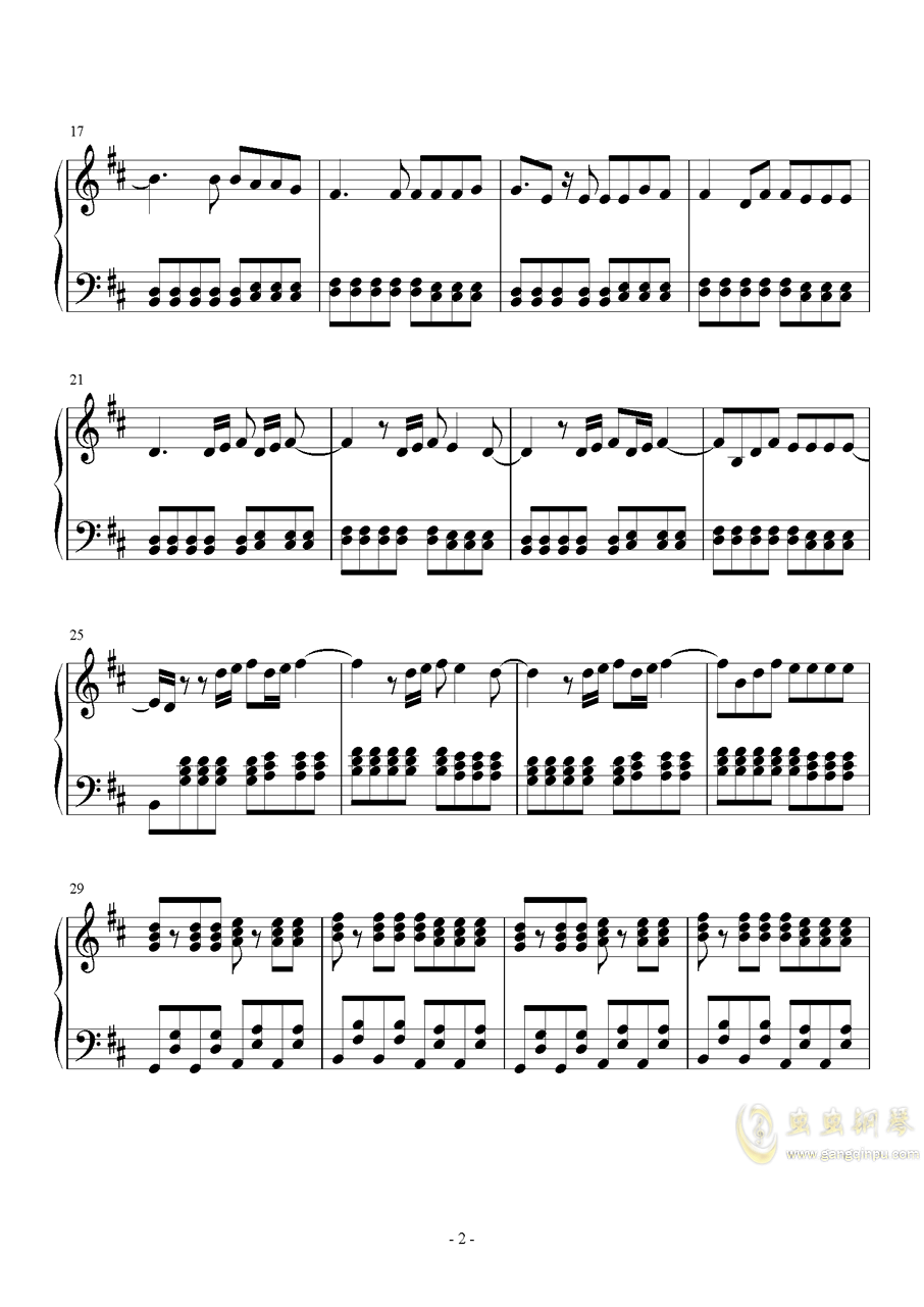 Something just like this钢琴谱 第2页