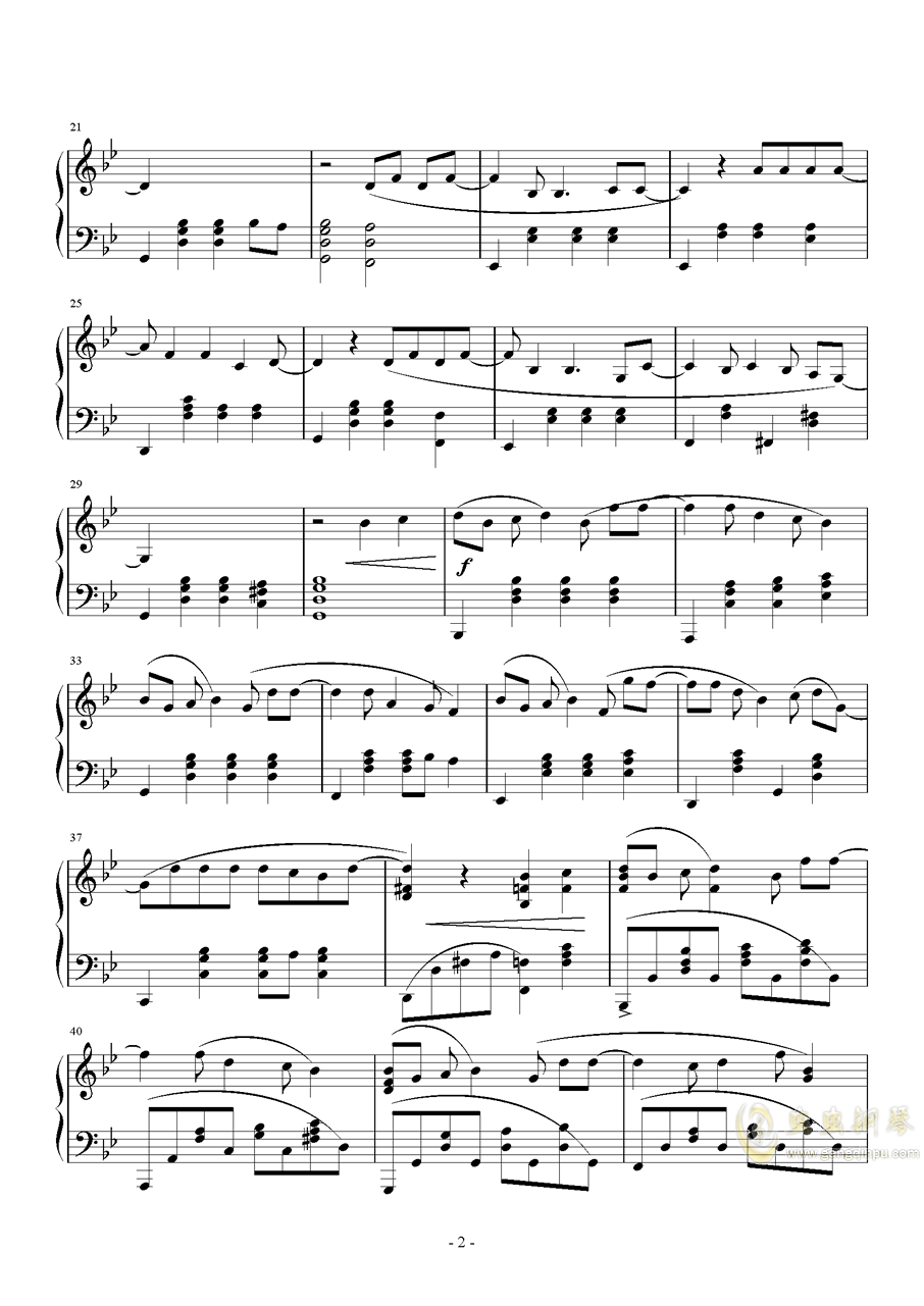 体面钢琴谱 第2页