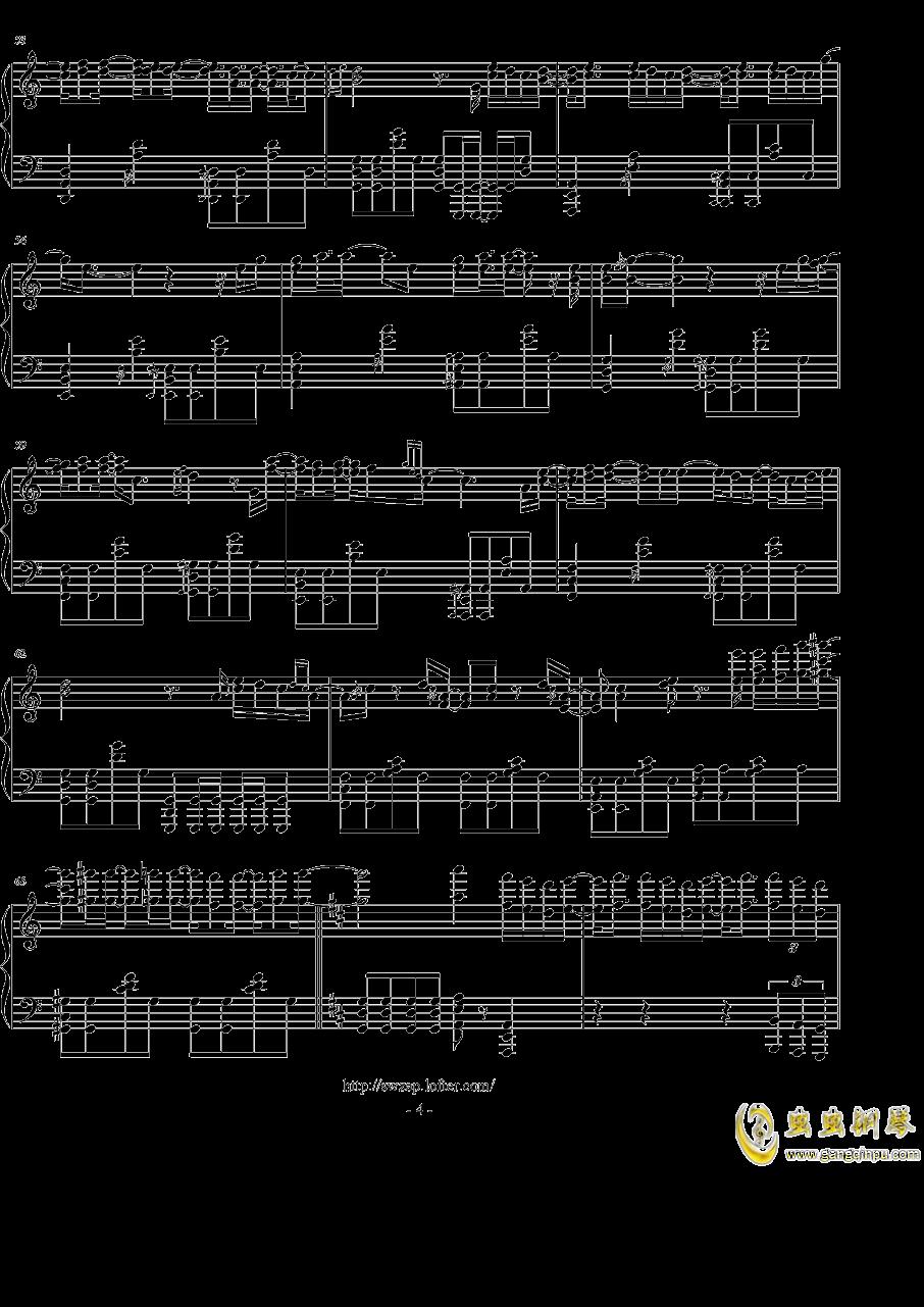 黑夜问白天钢琴谱 第4页