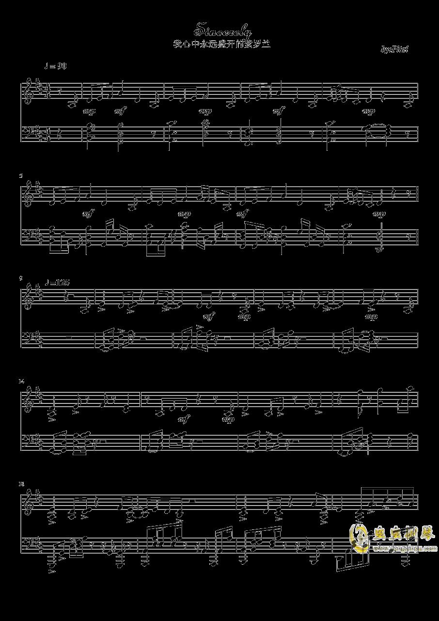 紫罗兰永恒花园钢琴谱 第1页