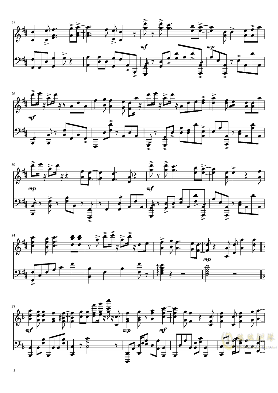 紫罗兰永恒花园钢琴谱 第2页