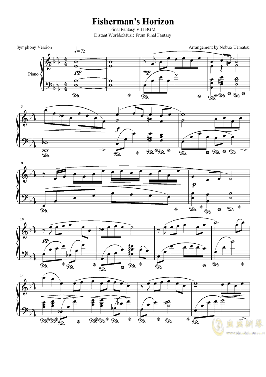 Fisherman钢琴谱 第1页