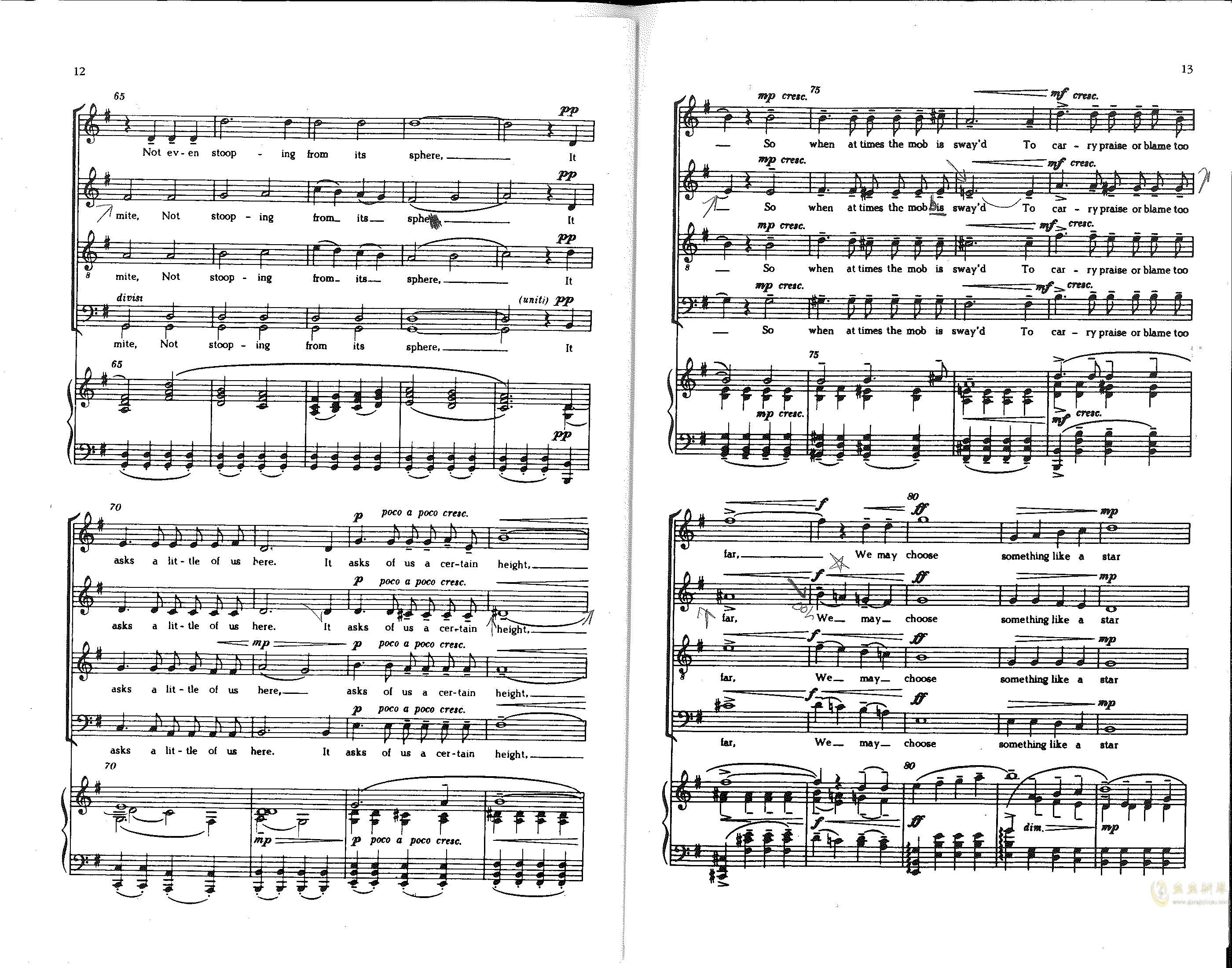 Choose something like a star钢琴谱 第5页