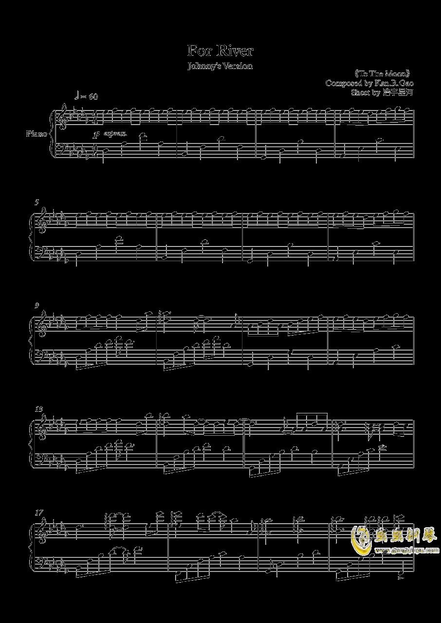 For river钢琴谱 第1页