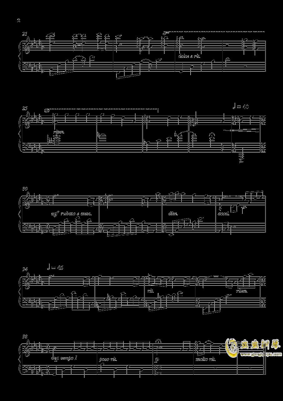 For river钢琴谱 第2页