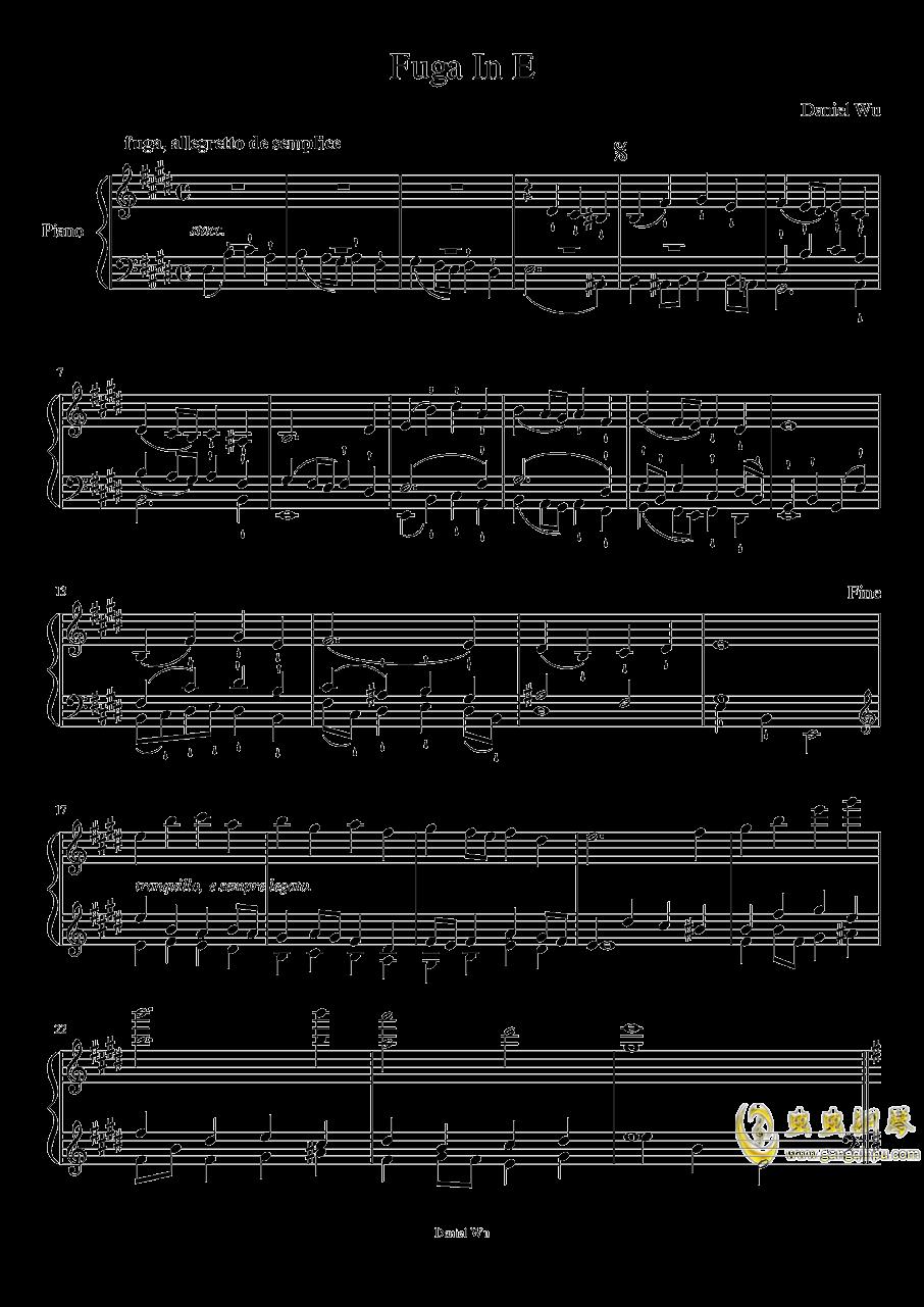 E大调赋格钢琴谱 第1页