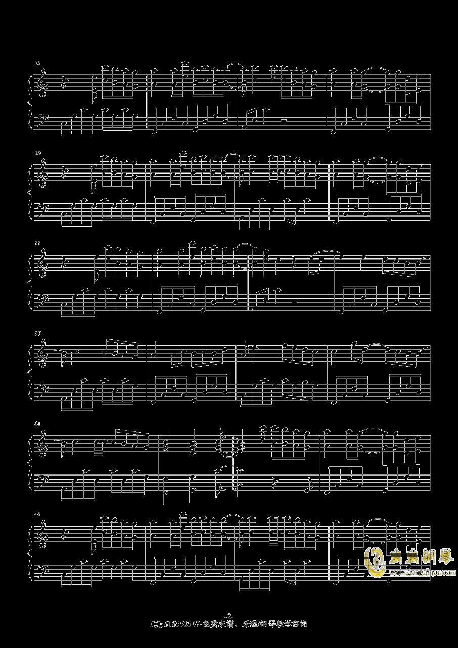sakura tears钢琴谱 第2页
