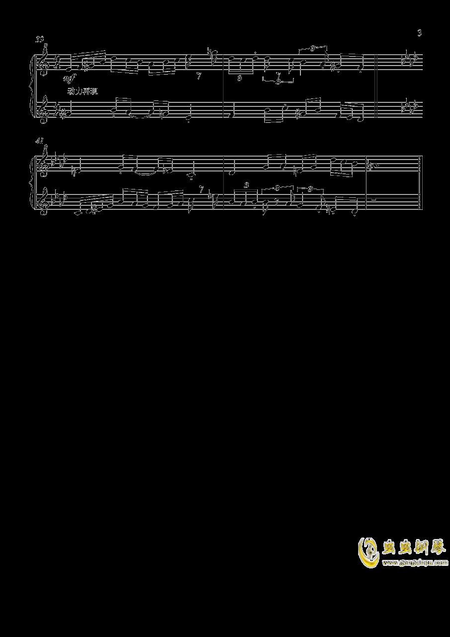 二声部复调小曲子w钢琴谱 第3页