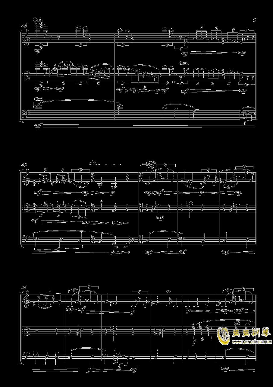 弦乐三重奏 X 不可描述的剧情钢琴谱 第5页