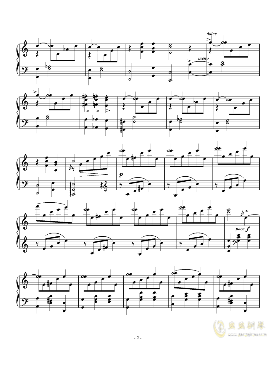 舞曲钢琴谱 第2页