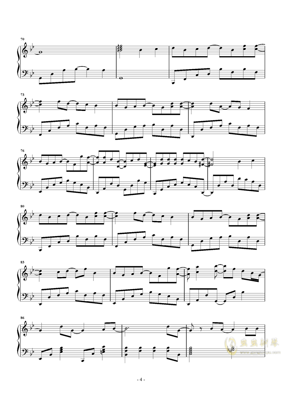 体面钢琴谱 第4页