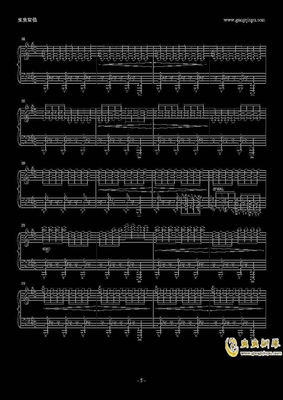 �W光钢琴谱 第5页