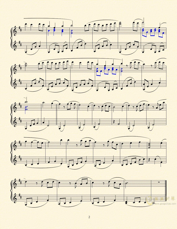 无人回归的故乡钢琴谱 第2页