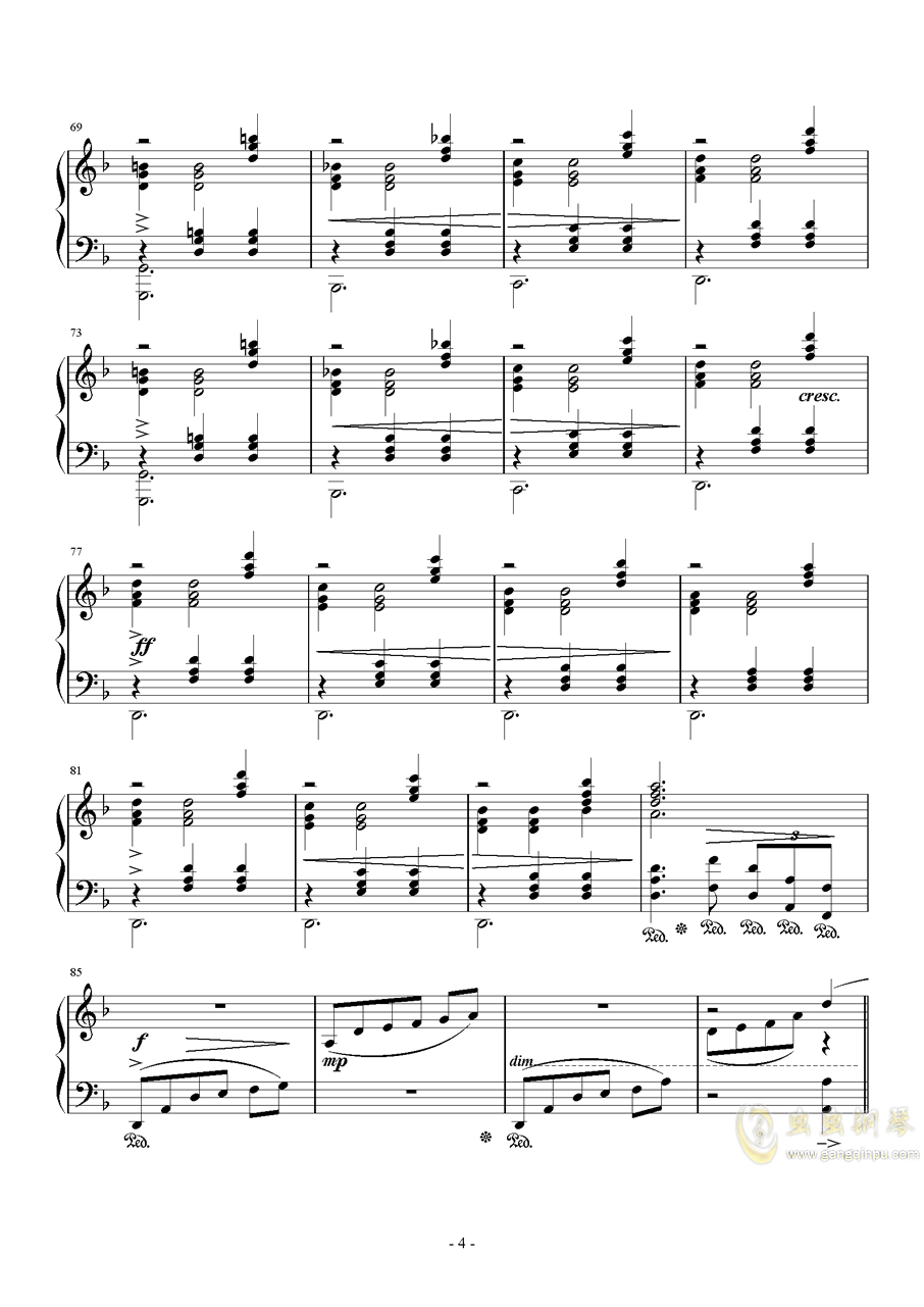 Answers钢琴谱 第4页