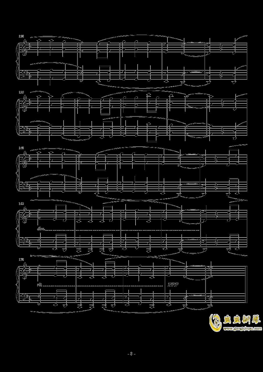 Answers钢琴谱 第8页