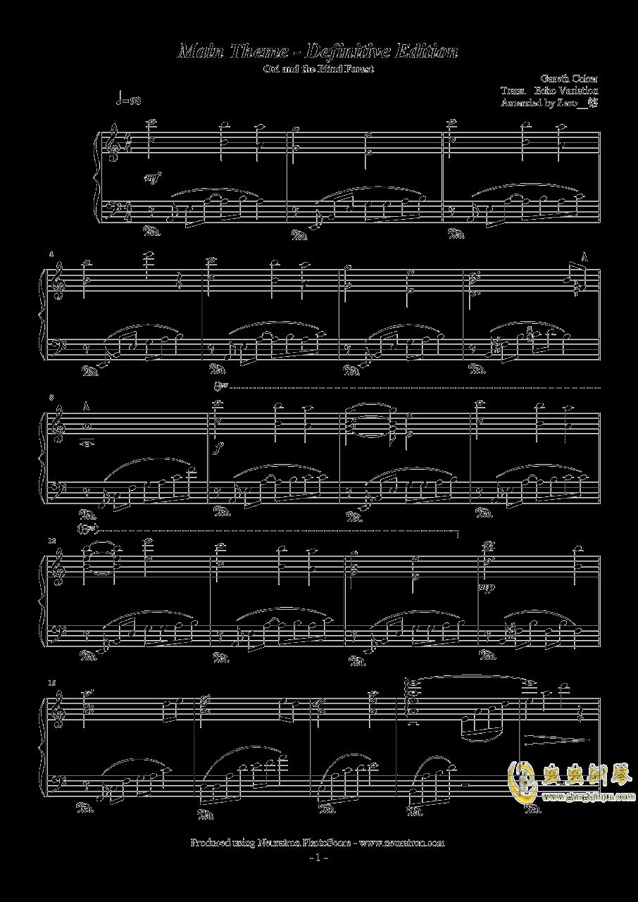 奥日与迷失森林钢琴谱 第1页