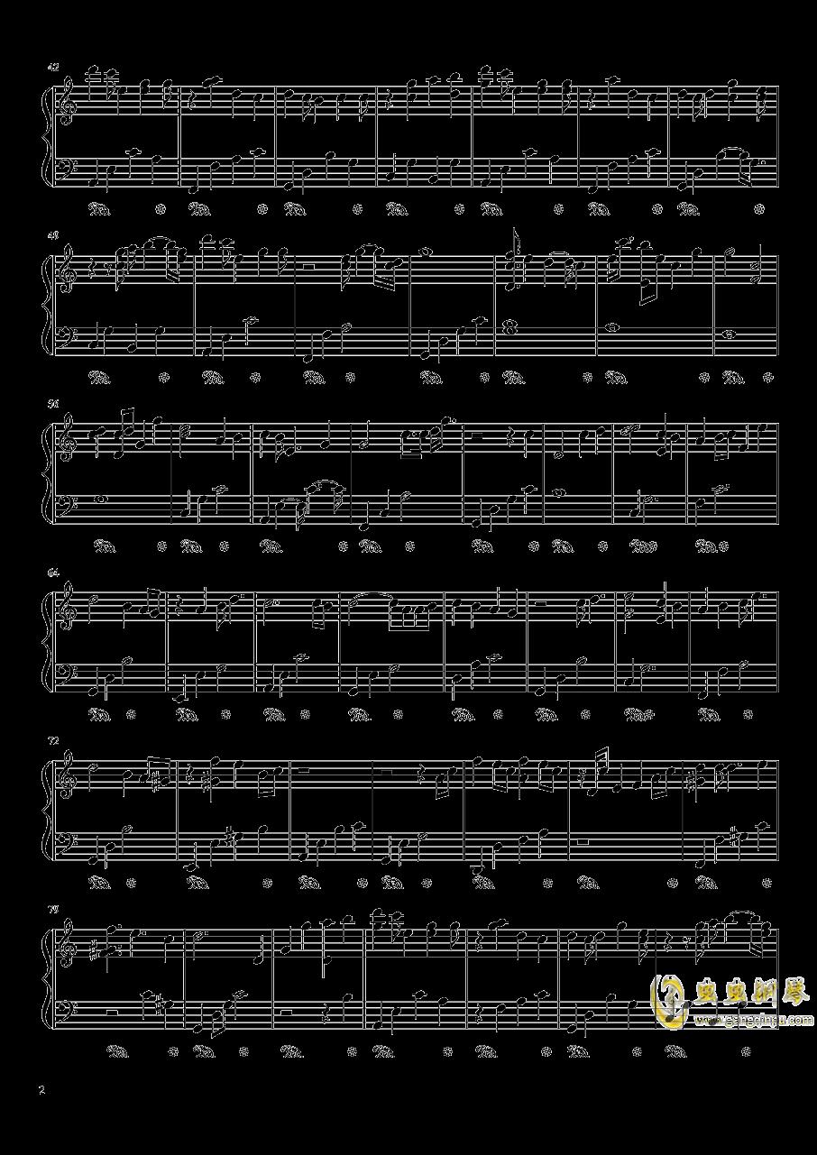 追光者c调演奏版(好听~简单)钢琴谱 第2页