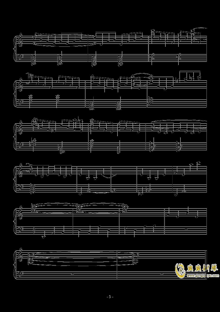 透ける瞳钢琴谱 第3页