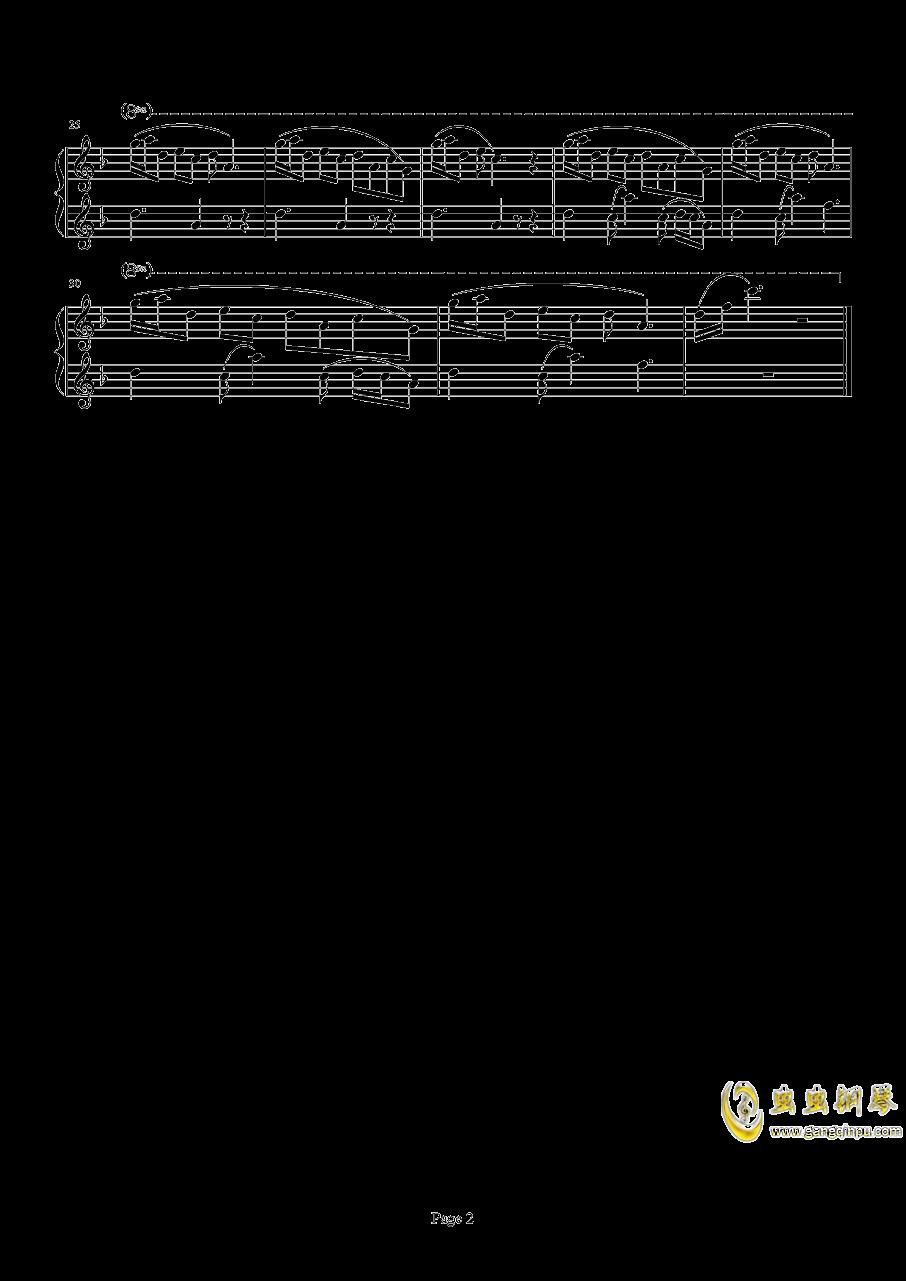 この目�wの奥に钢琴谱 第2页